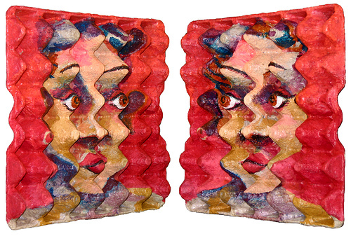 EggCubism: The Art of Recycling Old Egg Cartons